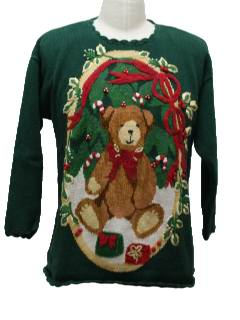 1980's Unisex Bear-Tastic Ugly Christmas Sweater
