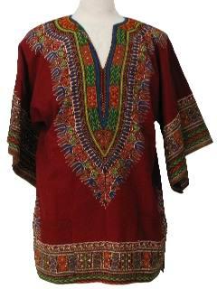 1970's Mens Dashiki Shirt