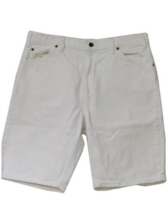 1990's Mens Totally 80s Style White Levis 550 Jean Shorts