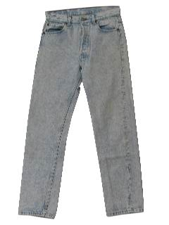 1990's Mens Totally 80s Levis 501 Acid Washed Jeans Pants