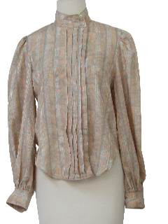 1980's Womens Totally 80s Pleated Shirt
