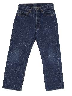 1980's Mens Totally 80s Galactic Wash Acid Wash Levis 501 Jeans Pants