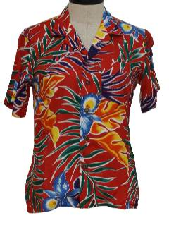 1980's Womens Totally 80s Hawaiian Shirt