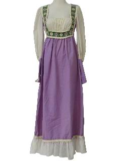 1960's Womens Bavarian Oktoberfest Maxi Dress