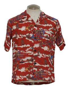 1940's Mens Hawaiian Shirt