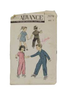 1940's Unisex/Childs Sewing Pattern