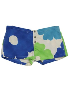 1970's Womens Mod Hawaiian Short Shorts