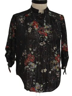 1970's Womens Disco Style Cocktail Shirt