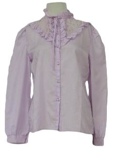 1980's Womens Totally 80s Frilly Shirt