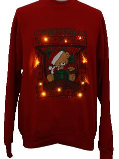 1980's Unisex Lightup Ugly Christmas Sweatshirt