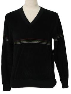 1980's Unisex Velour Shirt