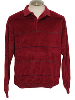 1980's Mens Totally 80s Velour Shirt