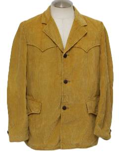 1970's Mens Western Style Corduroy Car Coat Jacket