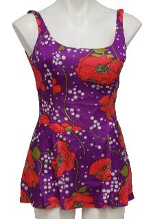 1960's Womens Mod Swimsuit