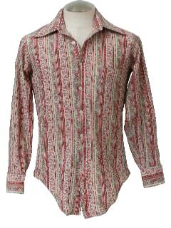 1960's Mens Print Disco Shirt