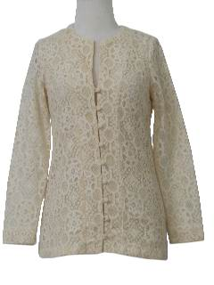 1960's Womens Lace Hippie Shirt