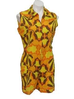 1960's Womens Mod Romper Style Jumpsuit