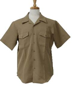 1970's Mens Gabardine Shirt