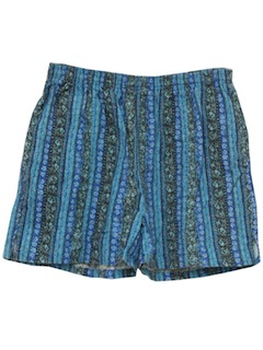 1980's Womens Totally 80s Hawaiian Inspired Shorts