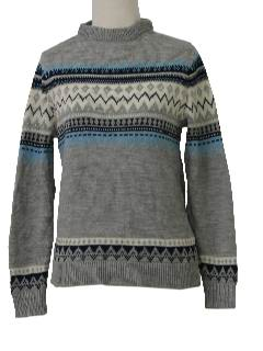 1970's Womens Ski Sweater