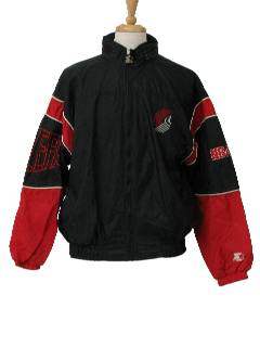 1990's Mens Wicked 90s Sports Themed Windbreaker Jacket