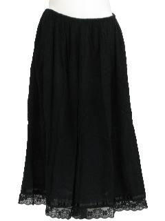 1980's Womens Broomstick Hippie Style Skort Skirt