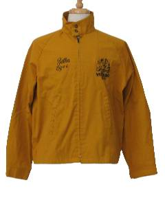 1970's Mens Golf Style Zip Jacket