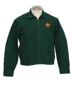 1960's Mens Boy Scouts Work Style Zip Jacket