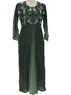 1990's Womens Ethnic Maxi Dress