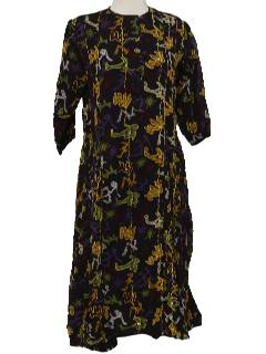 1980's Womens Ethnic Hippie Dress