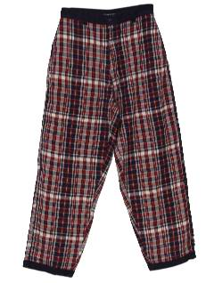 1980's Mens Totally Style 80s Plaid Baggy Pants