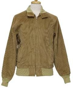 1980's Mens Corduroy Golf Style Zip Jacket