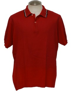 1950's Mens Mod Knit Polo Shirt