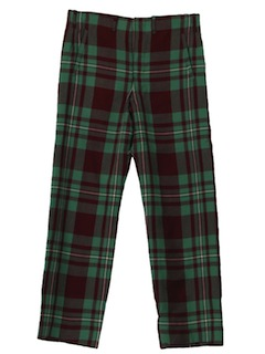 1960's Mens Plaid Mod Pants*