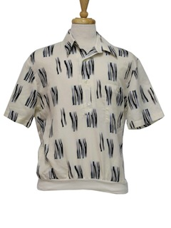 1990's Mens Totally 80s Resort Wear Shirt