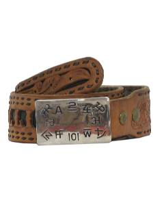 1970's Mens Accessories - Tooled Western Leather Belt