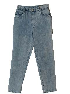 1980's Womens Totally 80s Acid Wash Jeans Pants