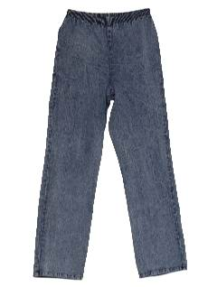 1980's Womens Totally 80s Acid Wash Jeans Style Pants