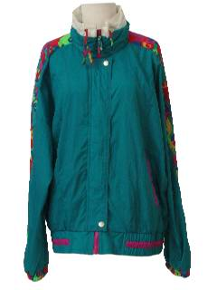 1980's Womens Totally 80s Windbreaker Jacket