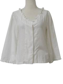 1960's Womens Frilly Shirt