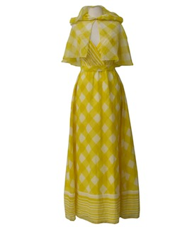 1970's Womens Maxi Sun Day Dress