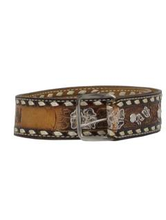1970's Womens Accessories - Leather Hippie Western Belt