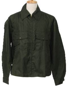 1970's Mens Eisenhower -Ike- Style Uniform Windbreaker Jacket