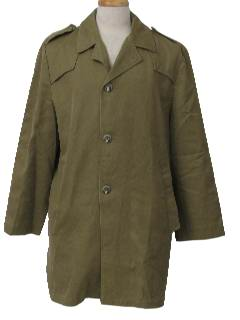1970's Mens Mod Car Coat Style Overcoat Jacket