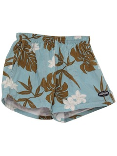 1990's Mens Wicked 90s Hawaiian Style Shorts