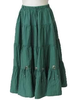1980's Womens Southwest Style Skirt