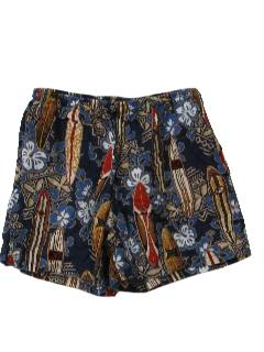 1990's Mens Hawaiian Swim Shorts