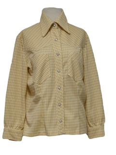 1970's Womens Western Style Leisure Shirt Jacket