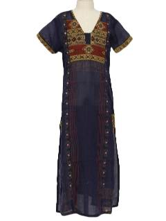 1990's Womens/Girls Salwar Kameez Ethnic Hippie Dress or Tunic Top