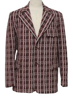 1970's Mens Mod Western Disco Blazer Style Sport Coat Jacket